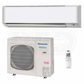 Panasonic - 26k BTU Cooling + Heating - Commercial Wall Mounted Air Conditioning System - 16.7 SEER
