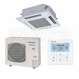 Panasonic - 26k BTU Cooling + Heating - Commercial Ceiling Cassette Air Conditioning System - 17.2 SEER
