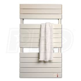 "Runtal Omnipanel - 1,450 BTU - Electric Towel Warmer - 43.6"" H - 16"" W - 3.8"" D - Direct Wire - Integrated Control"