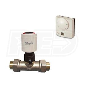 "Danfoss Basic Zone Valve Package, TWA Actuator with End Switch & 3/4"" Solder Union Valve"
