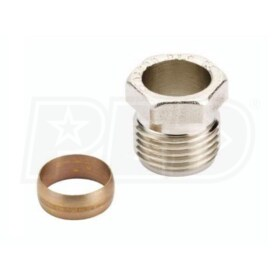 "Danfoss 1/2"" Copper Compression Fitting for RA15/6T & RA15/6TB Systems, One & Two Pipe Systems"