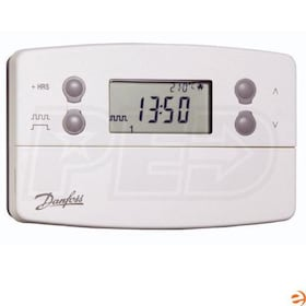 Danfoss TP7000 Battery Powered One Stage Heat Programmable Thermostat, ON/OFF or Chrono Control, Built-in Sensor