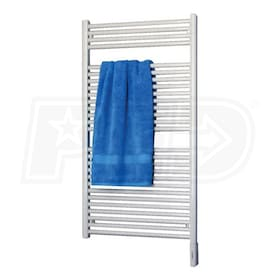"Runtal Radia - 3,072 BTU - Electric Towel Warmer - 49.7"" H - 29.5"" W - 3.6"" D - Direct Wire - Integrated Control"