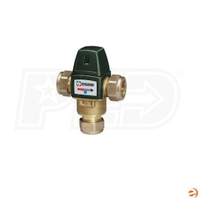 "Danfoss ESBE Series 30MR Point of Source Compact Thermostatic Mixing Valve, 3/4"" Compression Fittings, 1.8 CV, 85 - 120 F"