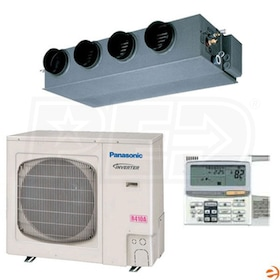 Panasonic 31,200 BTU - 36PEF1U6 - Concealed Duct - Ductless Heat Pump System