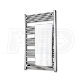 "Runtal Fain - 1,024 BTU - Electric Towel Warmer - 37.4"" H - 19.7"" W - 3.5"" D - Plug-In - Integrated Control"