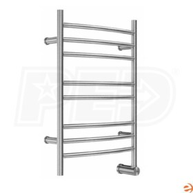 "Mr. Steam W328 Wall Mounted Electric Towel Warmer, Hardwired, Brushed Stainless Steel, 31-1/2""H x 20""W x 4-3/4""D - 98W, 333 BTU"