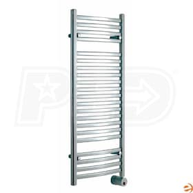"Mr. Steam W248 Wall Mounted Electric Towel Warmer, Polished Chrome, 48""H x 20""W x 4-1/4""D - 400W, 1,360 BTU"