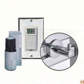 Mr. Steam Valet Package for Series 200 Towel Warmers, Includes Robe Hook, Essential Oil & Digital Timer w/ Wall Plate, White