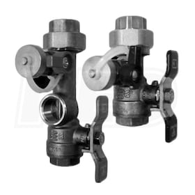 "Noritz 1"" - Threaded Isolation Valve Kit w/ Male 500K Btuh Pressure Relief Valve - Lead Free"