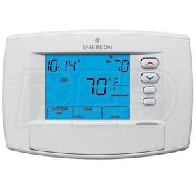 Emerson 1F95-0671 Blue 6 Square Inch Touchscreen Thermostat, Universal Staging/Heat Pump, Universal