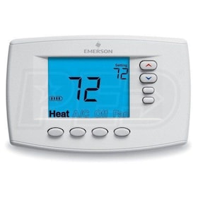 Emerson 1F95EZ-0671 Blue 6 Square Inch Touchscreen Thermostat, Universal Staging/Heat Pump, Easy Reader