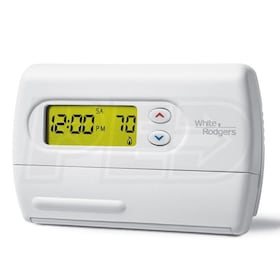 White Rodgers 1F80-361 Classic 80 Series Thermostat, Single Stage, 5+1+1 Programmable