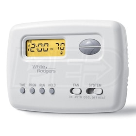 White Rodgers 1F78-151 70 Series Thermostat, Single Stage, Programmable, Horizontal