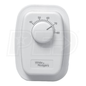 White Rodgers 1G66-641 Line Voltage Bimetal Thermostat, Double Pole