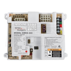 White Rodgers 50M56U-843 Single Stage Hot Surface Ignition Control with Nitride Ignitor & Wiring Harness, 25 VAC, 3 Fan Speeds