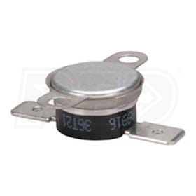 White Rodgers 3L11-150 Bimetal Disc Thermostat, Open on Rise, 145-155 F Temperature Range