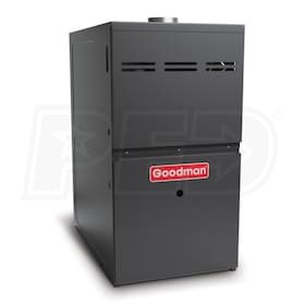 Goodman GMS8 - 80,000 BTU - Gas-Fired Furnace - NG - 80% AFUE - Single-Stage - Upflow/Horizontal - Multi-Speed (Scratch & Dent)