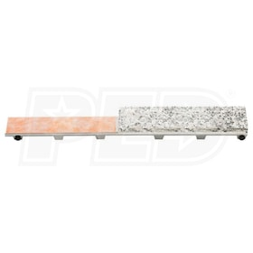 "Schluter KERDI-LINE - 48"" Length - Linear Drain Grate Assembly - Frameless Tileable Grate - Channel Body Sold Separately"
