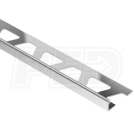 "Schluter SCHIENE - Edging Profile - For 5/8"" Thick Tile - 8' 2-1/2"" Length - Stainless Steel"