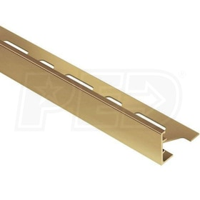 "Schluter SCHIENE - Edging Profile - For 5/8"" Thick Tile - 8' 2-1/2"" Length - Solid Brass"