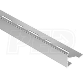 "Schluter SCHIENE - Edging Profile - For 11/16"" Thick Tile - 8' 2-1/2"" Length - Aluminum"