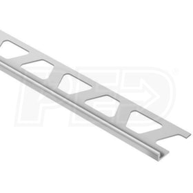 "Schluter SCHIENE - Edging Profile - For 1/8"" Thick Tile - 8' 2-1/2"" Length - Satin Anodized Aluminum"
