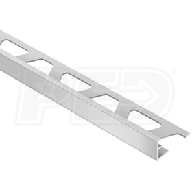 "Schluter SCHIENE - Edging Profile - For 11/32"" Thick Tile - 8' 2-1/2"" Length - Satin Anodized Aluminum"