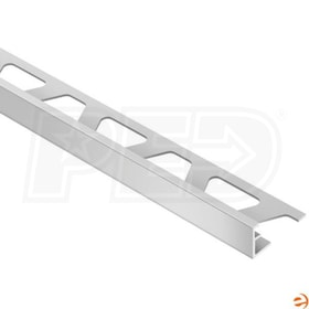 "Schluter SCHIENE - Edging Profile - For 3/8"" Thick Tile - 8' 2-1/2"" Length - Satin Anodized Aluminum"