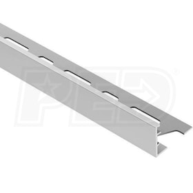"Schluter SCHIENE - Edging Profile - For 9/16"" Thick Tile - 8' 2-1/2"" Length - Satin Anodized Aluminum"