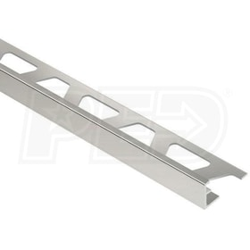 "Schluter SCHIENE - Edging Profile - For 1/2"" Thick Tile - 8' 2-1/2"" Length - Bright Nickel Anodized Aluminum"