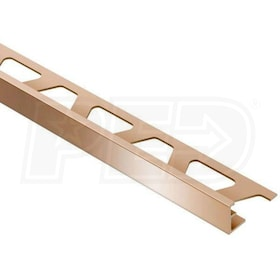 "Schluter SCHIENE - Edging Profile - For 3/8"" Thick Tile - 8' 2-1/2"" Length - Bright Copper Anodized Aluminum"