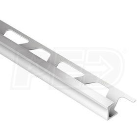 "Schluter DECO - Edging Profile - For 1/2"" Thick Tile - 8' 2-1/2"" Length - Satin Anodized Aluminum"