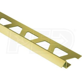 "Schluter RENO-TK - Height Transition Profile - For 3/8"" Thick Tile - 8' 2-1/2"" Length - Solid Brass"