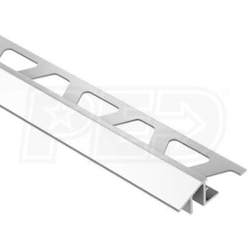 "Schluter RENO-TK - Height Transition Profile - For 1/2"" Thick Tile - 8' 2-1/2"" Length - Bright Chrome Anodized Aluminum"