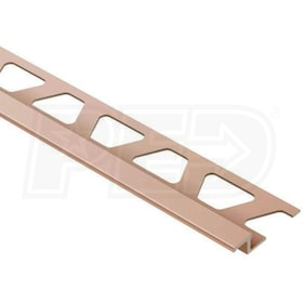 "Schluter RENO-TK - Height Transition Profile - For 1/4"" Thick Tile - 8' 2-1/2"" Length - Satin Copper Anodized Aluminum"