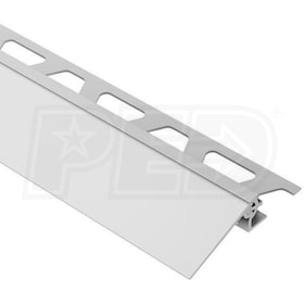 "Schluter RENO-V - Height Transition Profile - For 9/16"" Thick Tile - 8' 2-1/2"" Length - Satin Anodized Aluminum - 3/4"" Ramp"