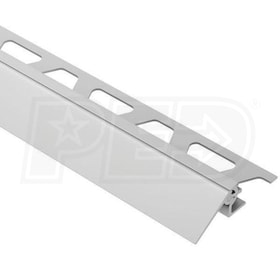"Schluter RENO-V - Height Transition Profile - For 3/8"" Thick Tile - 8' 2-1/2"" Length - Satin Anodized Aluminum - 1-9/16"" Ramp"