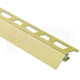 "Schluter RENO-V - Height Transition Profile - For 5/16"" Thick Tile - 8' 2-1/2"" Length - Satin Brass Anodized Aluminum - 1-9/16"" Ramp"