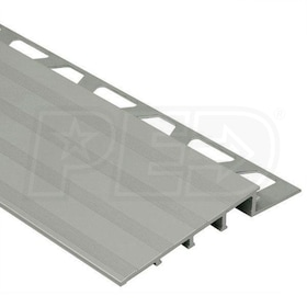 "Schluter RENO-RAMP - Height Transition Profile - For 3/8"" Thick Tile - 8' 2-1/2"" Length - Satin Anodized Aluminum - 2-1/2"" Ramp"