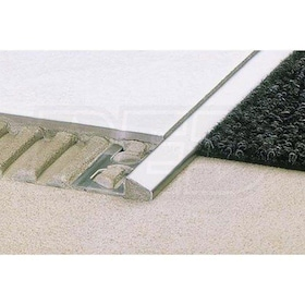 "Schluter RENO-U - Height Transition Profile - For 5/16"" Thick Tile - 8' 2-1/2"" Length - Solid Brass"