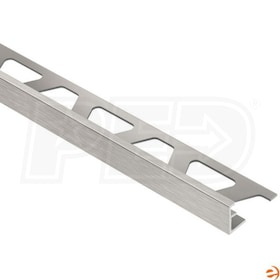 "Schluter JOLLY - Edging Profile - For 1/2"" Thick Tile - 8' 2-1/2"" Length - Brushed Nickel Anodized Aluminum"