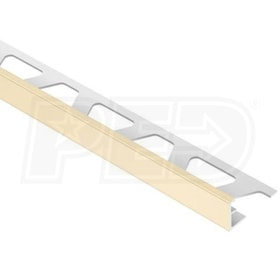 "Schluter JOLLY - Edging Profile - For 5/16"" Thick Tile - 8' 2-1/2"" Length - Sand Pebble PVC"