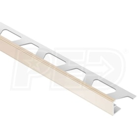 "Schluter JOLLY - Edging Profile - For 3/8"" Thick Tile - 8' 2-1/2"" Length - Bahama PVC"