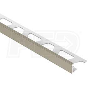 "Schluter JOLLY - Edging Profile - For 1/2"" Thick Tile - 8' 2-1/2"" Length - Grey PVC"