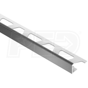 "Schluter JOLLY - Edging Profile - For 1/2"" Thick Tile - 8' 2-1/2"" Length - Black PVC"
