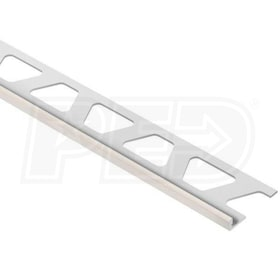 "Schluter JOLLY - Edging Profile - For 1/8"" Thick Tile - 8' 2-1/2"" Length - Sand Pebble Coated Aluminum"