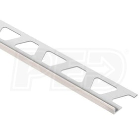 "Schluter JOLLY - Edging Profile - For 3/16"" Thick Tile - 8' 2-1/2"" Length - Bahama Coated Aluminum"