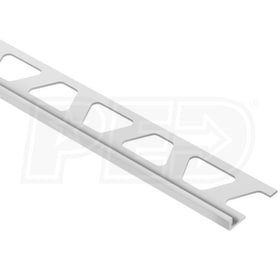 "Schluter JOLLY - Edging Profile - For 3/16"" Thick Tile - 8' 2-1/2"" Length - Light Grey Coated Aluminum"