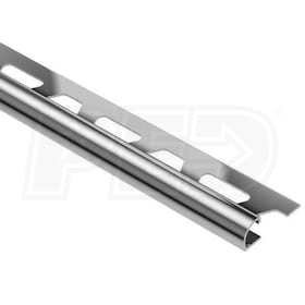 "Schluter RONDEC - Edging Profile - For 11/32"" Thick Tile - 8' 2-1/2"" Length - Stainless Steel"